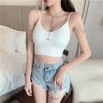 Halter Top No Steel Ring With Breast Pad Tank Top