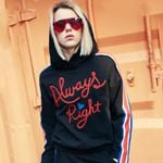 Fashion Casual Paragraph Black Hoodie