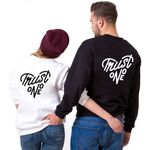 Long Sleeve Pullover Double Letter Printed Sweatshirts