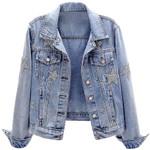 fashion hot drilling stars denim jacket