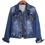 Fashion Long Sleeve Stretch Short Denim Jacket