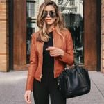 Faux Leather PU Long Sleeve Jacket