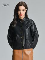 Vintage Faux Leather PU Loose Fit Jackets
