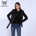 Leather Black PU Leather Jacket