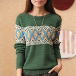 Long Sleeve Fashion Bead Long Sleeve Knitted Sweater