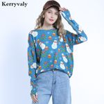 Knitwear Snowman Printed Sweater