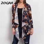 Vintage Floral Print Long Sleeve Casual Kimono