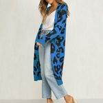 Knitted Leopard Print Kimono
