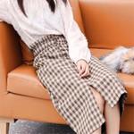 Vintage Plaid Woolen Sexy Split Skirt