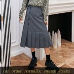 Trumpet Half-body fashion Loose high waist skirt