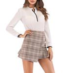 Fashion High Waist Lattice Printing Skirt