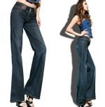 pencil vintage bell-bottom jeans