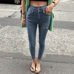 Ripped Fit High Waist Stretched Elastic Jeans