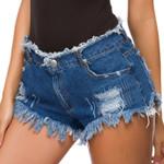 ripped high street fringed hem jeans shorts