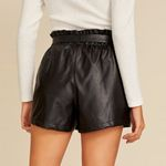 Leather Elastic Belt Scanties England Style Shorts