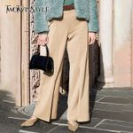Vintage Patchwork Hit Color Wide Leg Pants