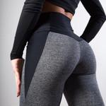 Black Gray Patchwork Fitness Leggings