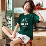 Leisure Thin Short Sleeved Printing Sleepwear
