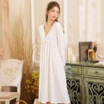 Fashion White Sexy Cotton Lace Sleepwear