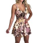 Sexy Sleeveless Floral Printed V-Neck Rompers