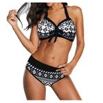 Set Push Up Two Piece Halter Bikini