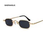 Small Square Metal Steampunk Sunglasses