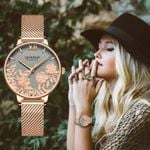 Luxury Stainless Steel Strap Wristwatch