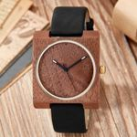 Natural Creative Square Dial Wood Watch