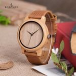 Bamboo With Soft Leather Strap Wood Watch