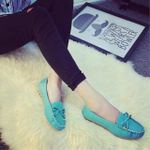 Slip on Bowtie Loafer Flat shoes