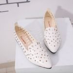 Shallow Crystal Hollow Out Star Shape Flat shoes