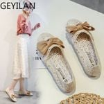 Hollow Lace Ballet Bow Casual Flat shoes