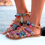 Comfort Flat Buckle National Style Sandals