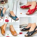 Buckle Open Toes Slingbacks Cross Tied Sewing Sandals