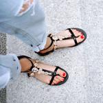 Sweet Crystal Rhinestone Ankle Buckle Sandals