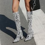Zebra stripes Fashion Boots