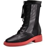Genuine Leather Casual Med Boots