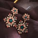 Elegant Exaggerated Star Crystal Drop Earrings