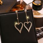 Dominated personality fine crystal Drop earrings