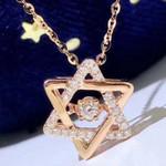 Diamond Star Triangle Necklaces