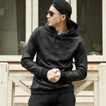 Fashion Casual Stretchy Faux Leather Hoodie
