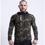 Sport Fitness Zipper Hooded Camouflage Jackets