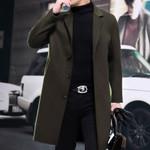 Wool Fashion Slim Long Cashmere Coats