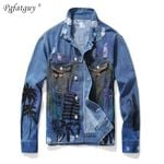 Slim Hip Hop Retro Hole Denim Jacket