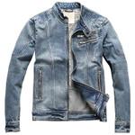 Casual Automotive Streetwear Cotton Denim Jackets