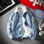 thick fashion mid-length loose Denim Jackets