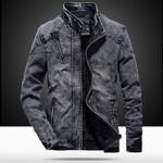 fashion stand collar Cotton slim-fitting Denim Jackets