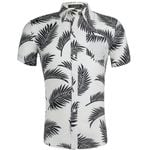Fashion Casual Hawaiian flower Short Sleeve Shirts