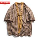 Embroidered Fashion Hip Hop Streetwear Half Short Sleeve Shirts