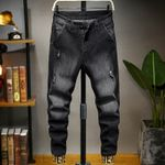 Casual Streetwear Harem Hip Hop Stretch Drawstring Jeans